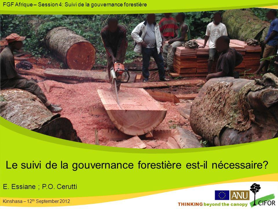 THINKING beyond the canopy Le suivi de la gouvernance forestière est-il nécessaire.
