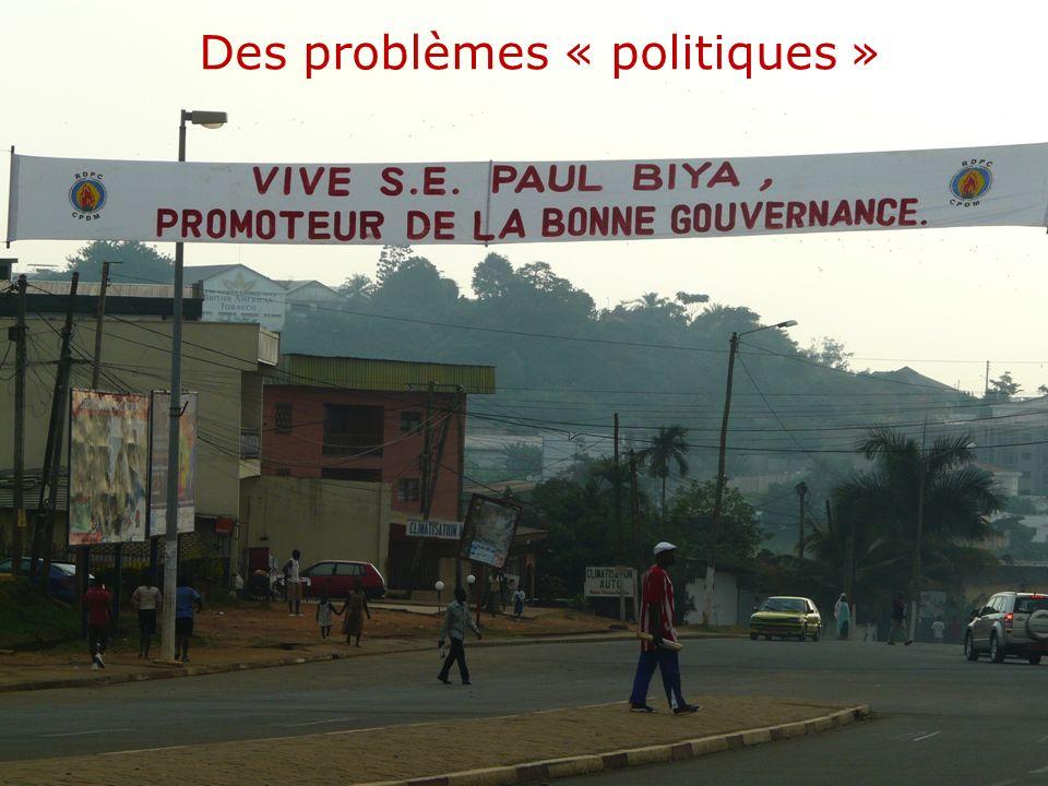THINKING beyond the canopy Des problèmes « politiques »
