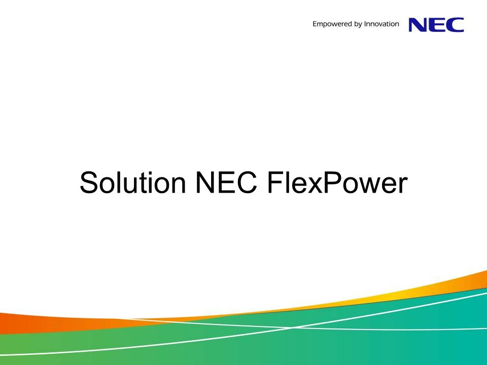 Solution NEC FlexPower