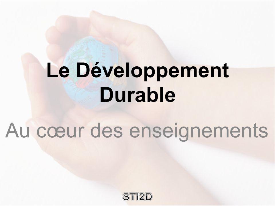 Au cœur des enseignements Le Développement Durable STI2D