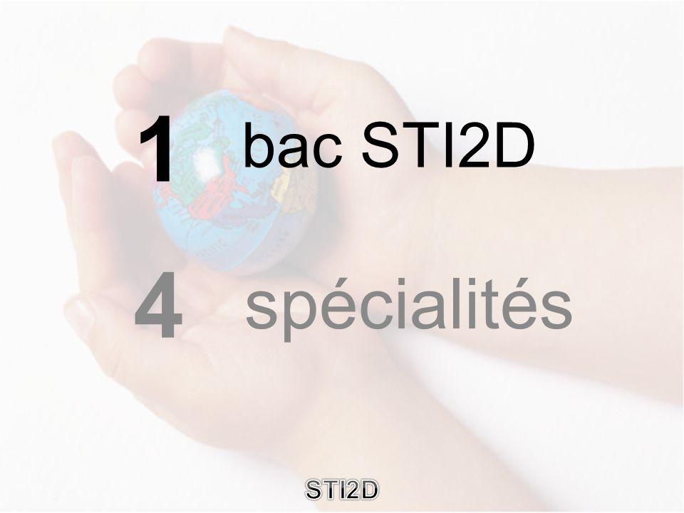 bac STI2D spécialités 1 4 STI2D