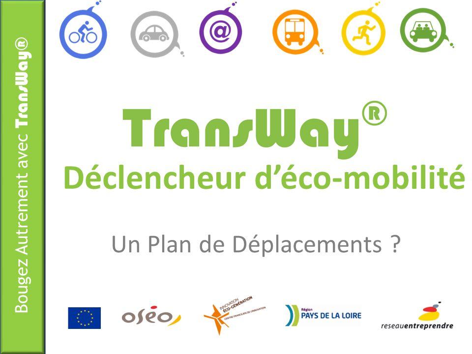 Bougez Autrement avec TransWay® Déclencheur déco-mobilité Un Plan de Déplacements ?
