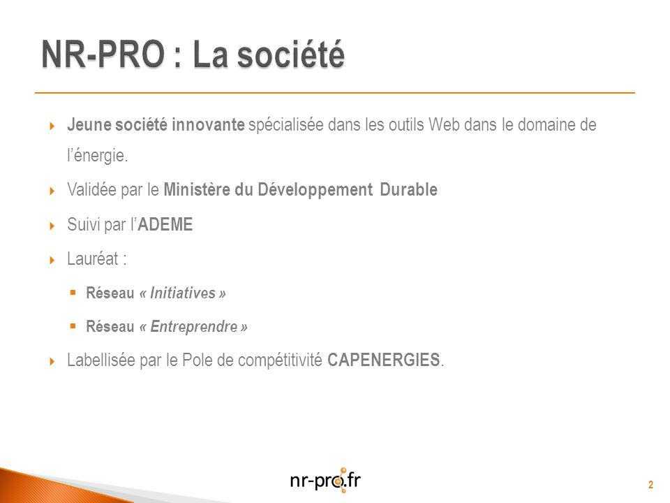 Jeune société innovante spécialisée dans les outils Web dans le domaine de lénergie.