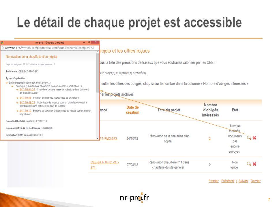 Rénovation de la chaufferie (Oct 2012) 3 568 350 KWh cumac Offres reçues : entre 8055 et 11420 8