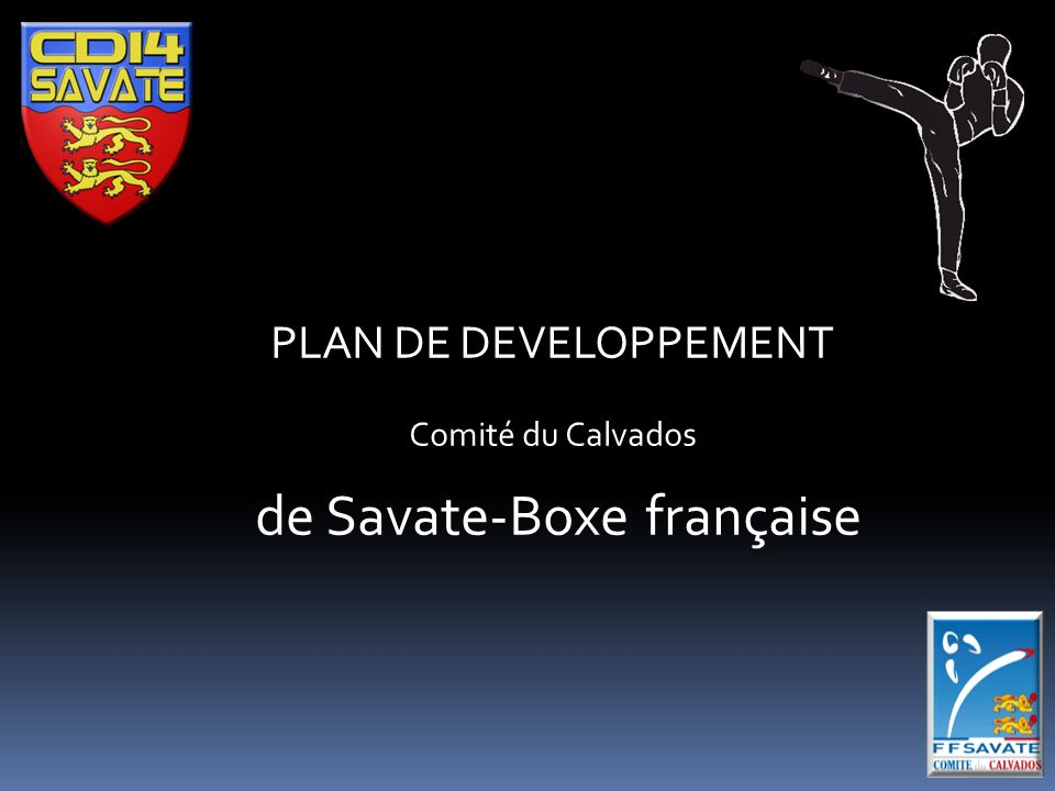 PLAN DE DEVELOPPEMENT Comité du Calvados de Savate-Boxe française