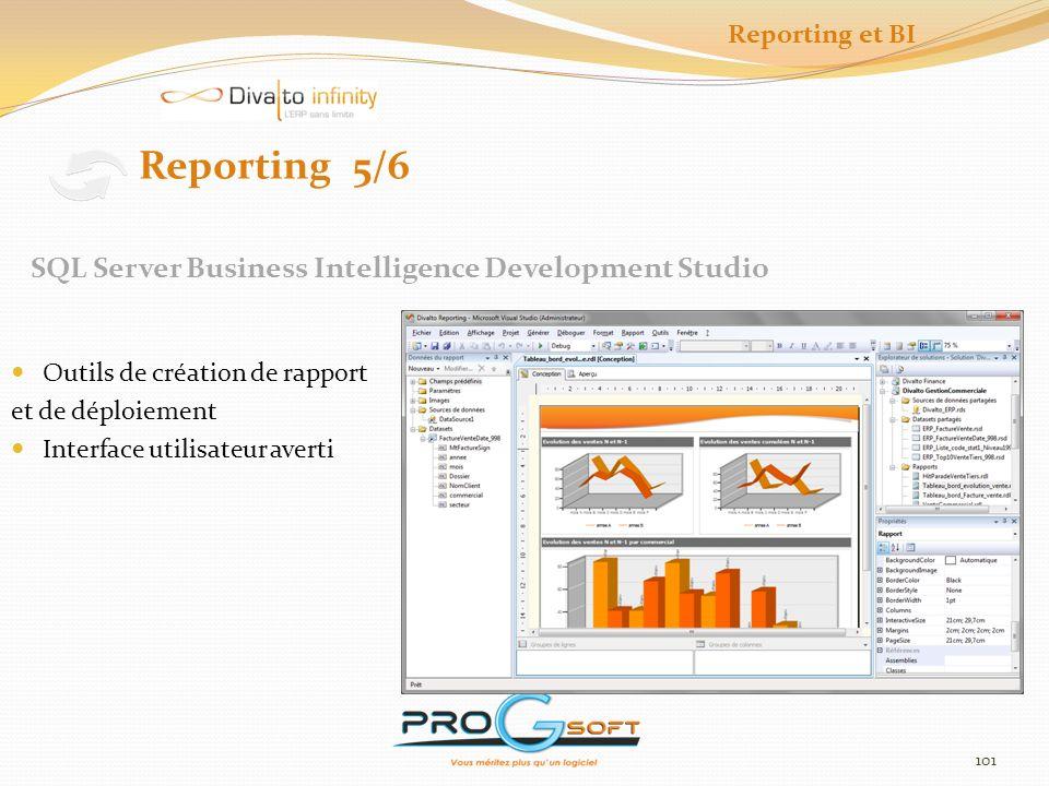 102 Outil dinterrogation et de stockage de données Reporting 6/6 Excel Power Pivot Reporting et BI