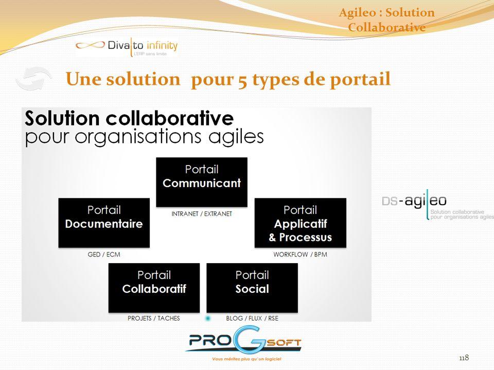 119 Agileo : Solution Collaborative Une solution riche …