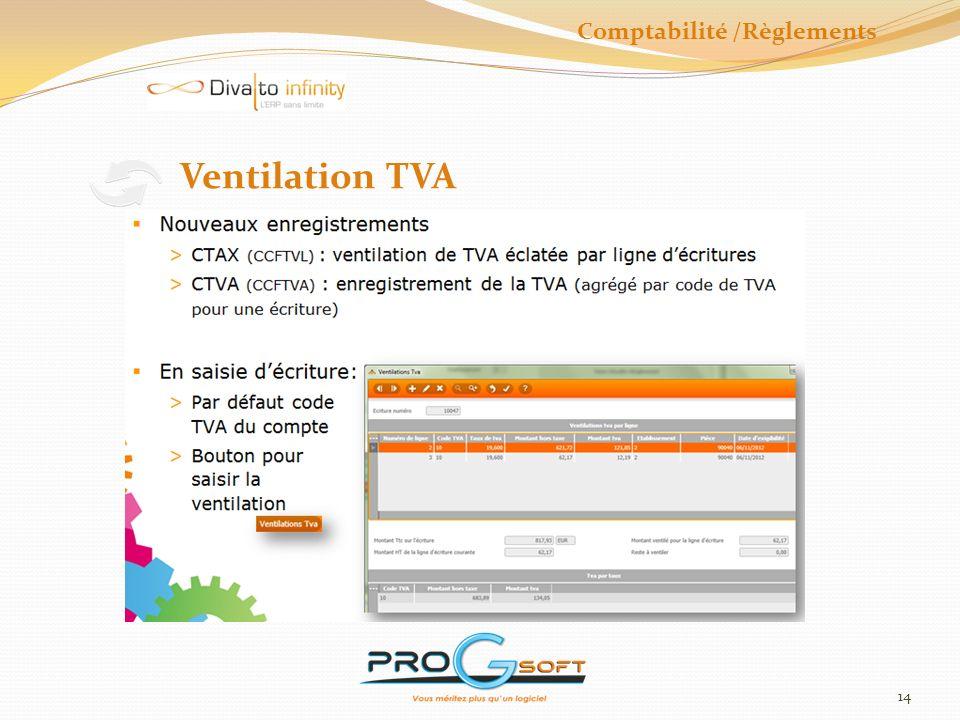 15 Bordereaux banque et Tiers Comptabilité /Règlements