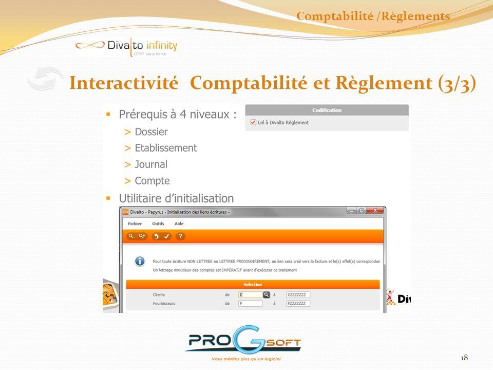 19 Modèle décriture Abonnement Comptabilité /Règlements