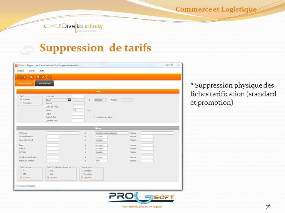 37 Tarif Achat Commerce et Logistique
