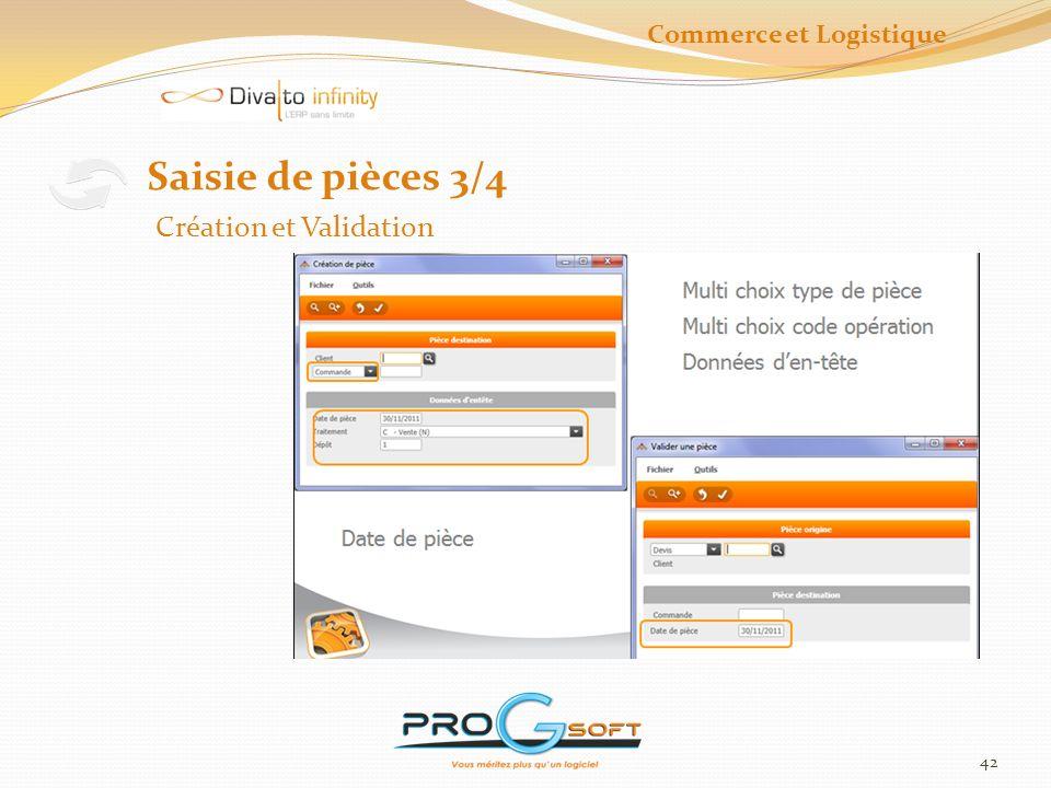 43 Saisie de pièces 4/4 Ligne et validation Commerce et Logistique