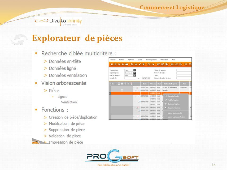 45 Critères de sélection Commerce et Logistique