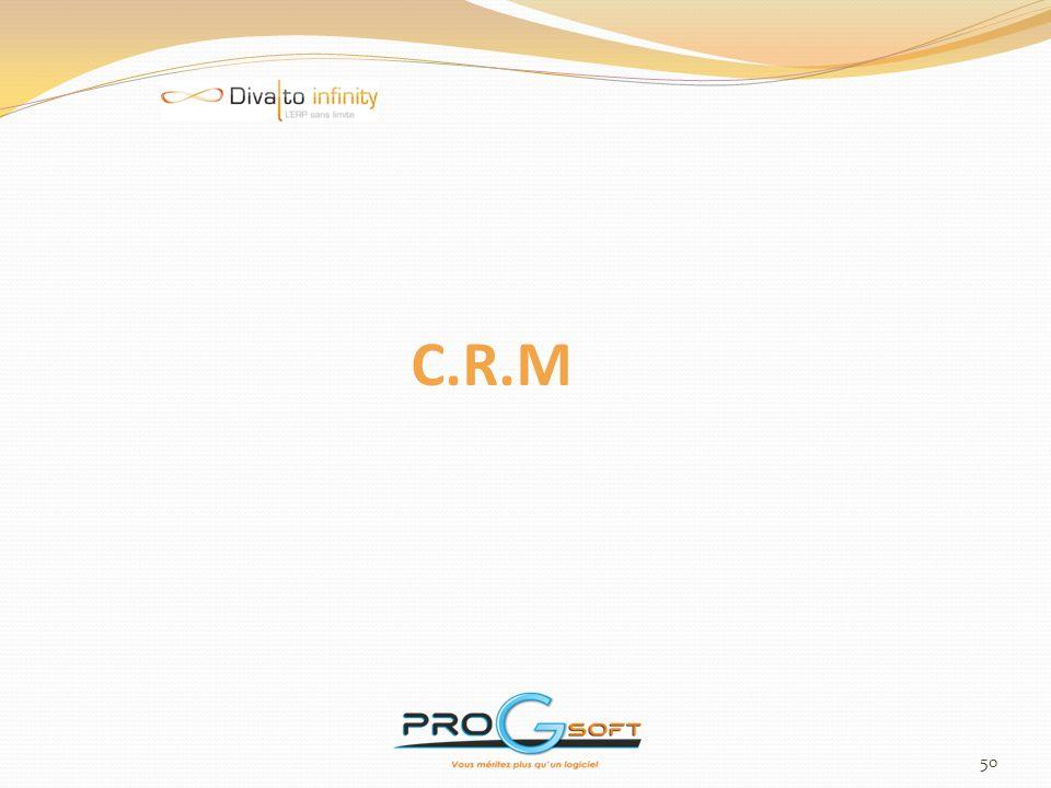 51 Gestion des Opérations Marketing C.R.M