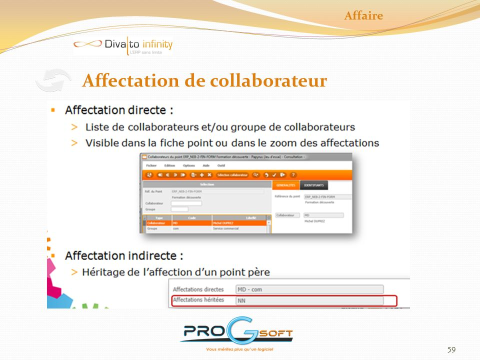 59 Affaire Affectation de collaborateur