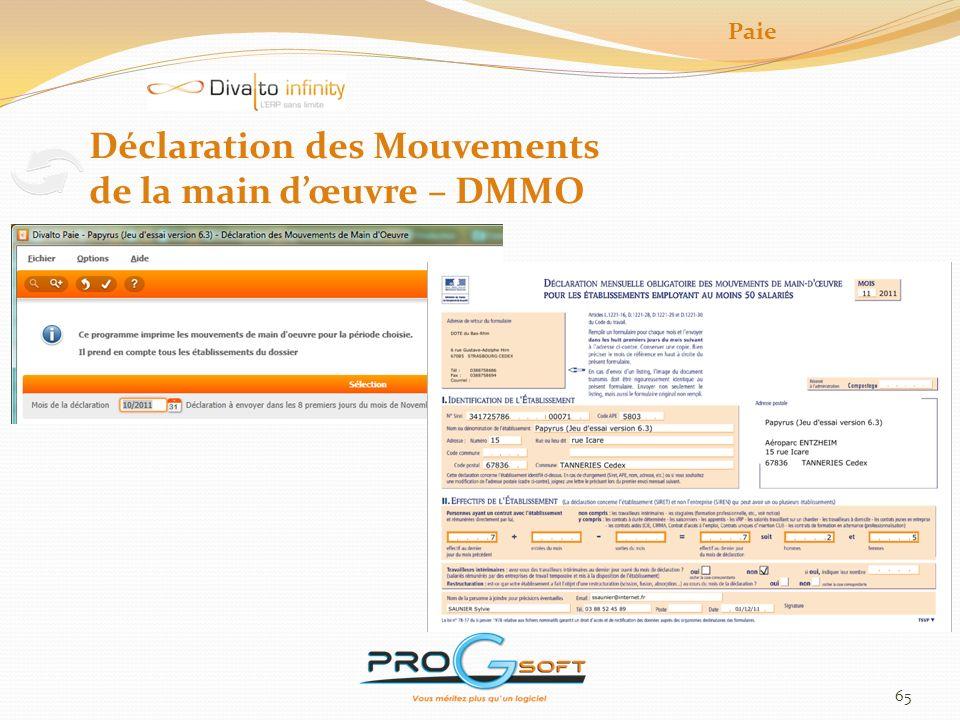 66 Déclaration unique dembauche Lancement du programme de confection du fichier de déclaration Il convient ensuite de générer le fichier pour un organisme URSSAF Paie