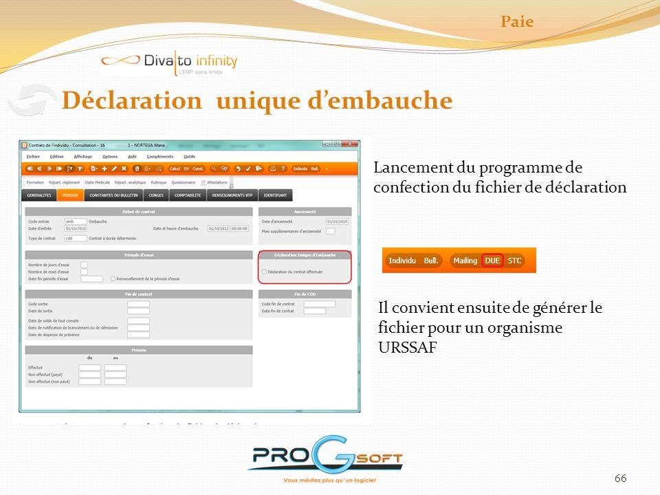 67 Programme « Solde tout compte » Programme qui automatise les opérations de fin de contrat.