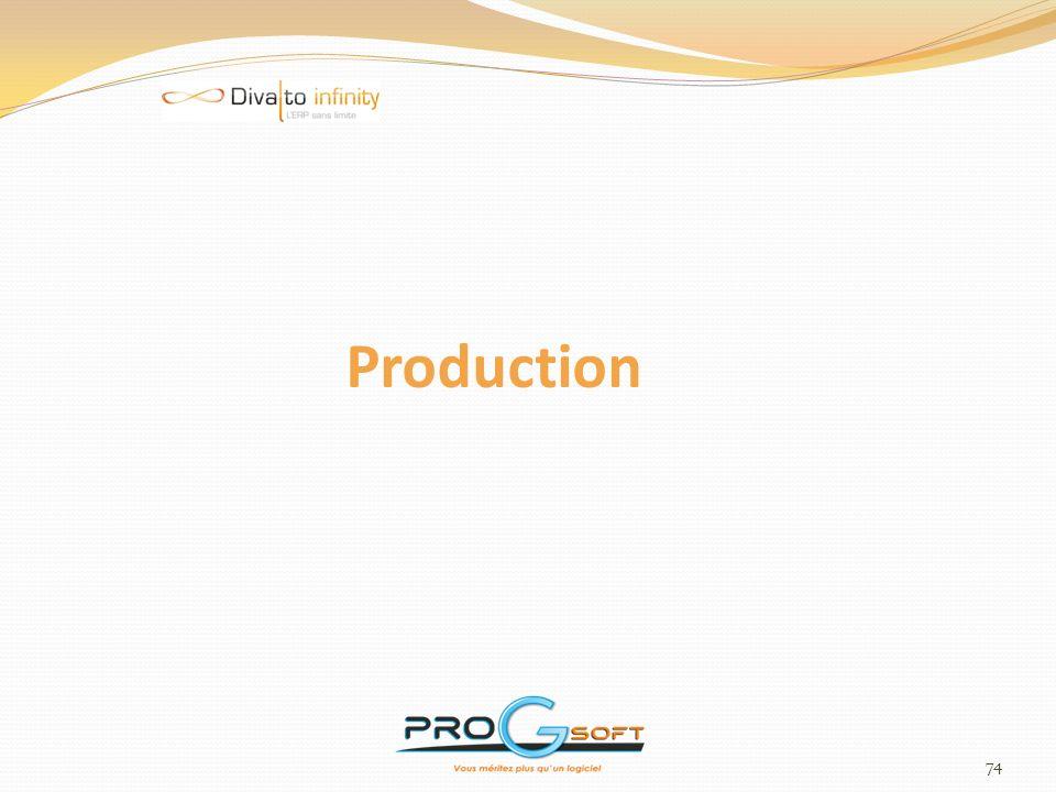 75 Dossier - Actions Paramétrage de codes ACTION sur DT, OF et OM Paramétrage de codes ACTION sur arrêt poste Production