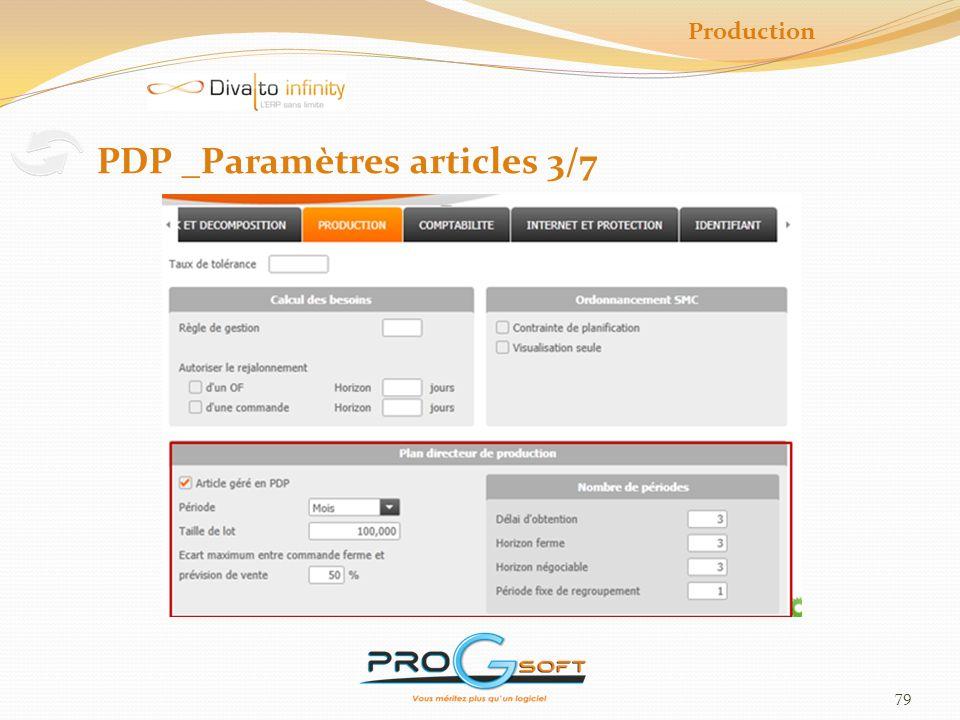 80 Production PDP _Saisie des prévisions 4/7 Saisie par référence, sous-référence, dépôt > En unité de vente > Par période (paramétrée dans larticle )