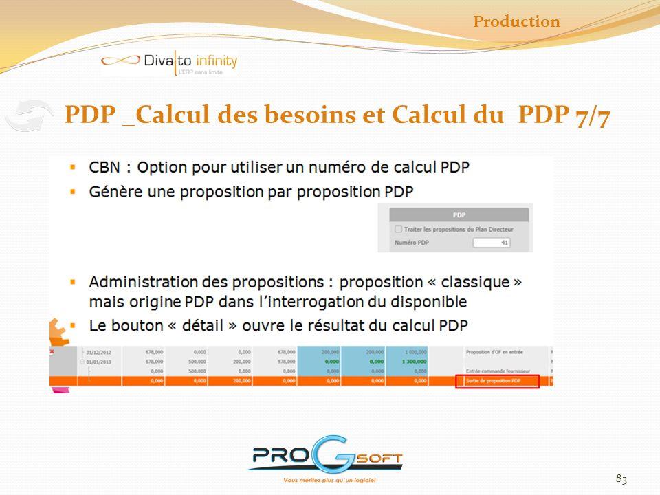 84 Production Maintenance et Production 1/5 Administration des OF
