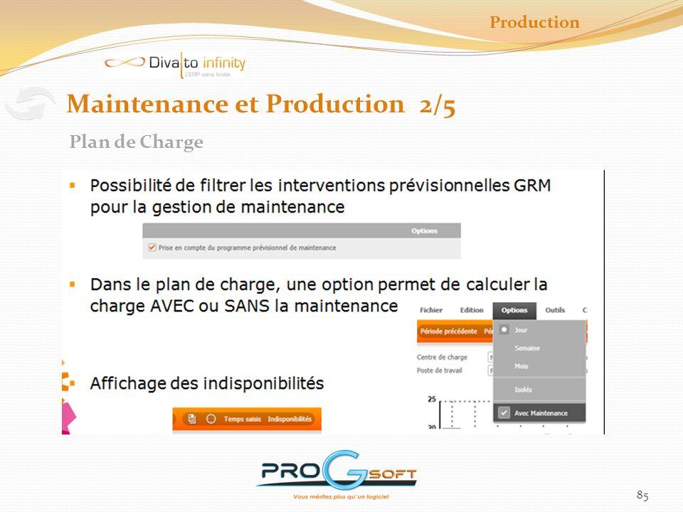 86 Maintenance et Production 3/5 Planification