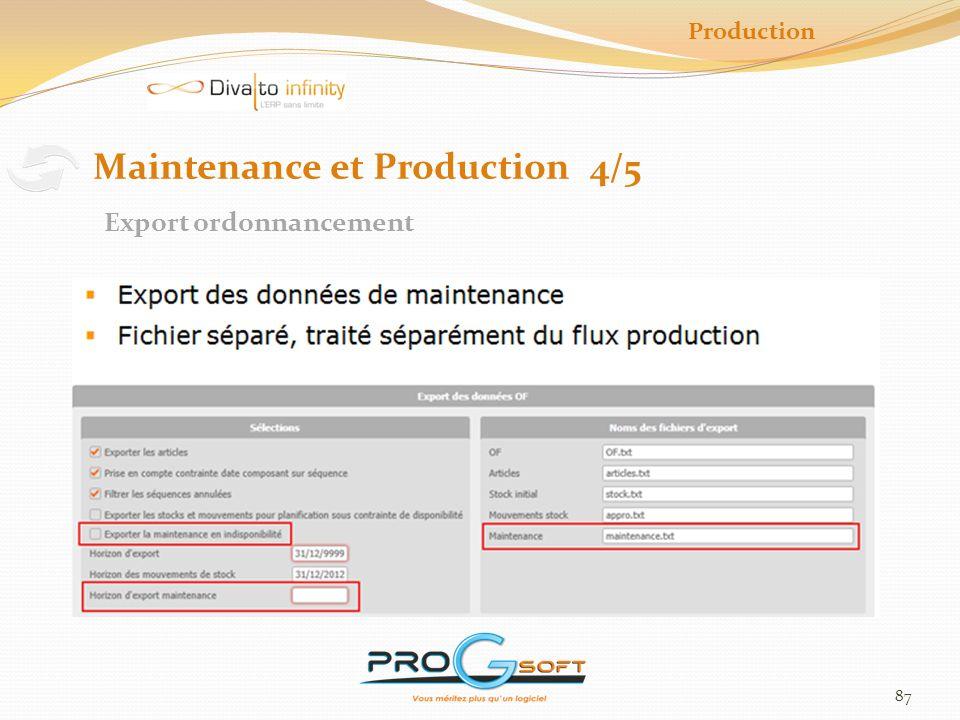 88 Production Maintenance et Production 5/5 CBN