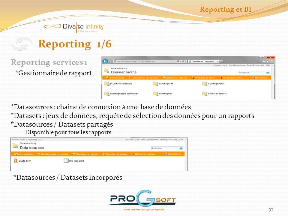 98 Reporting et BI Reporting 2/6 Serveur de rapport Reporting services 2