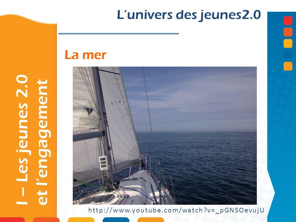 La mer I – Les jeunes 2.0 et lengagement Lunivers des jeunes2.0 http://www.youtube.com/watch?v=_pGNSOevujU
