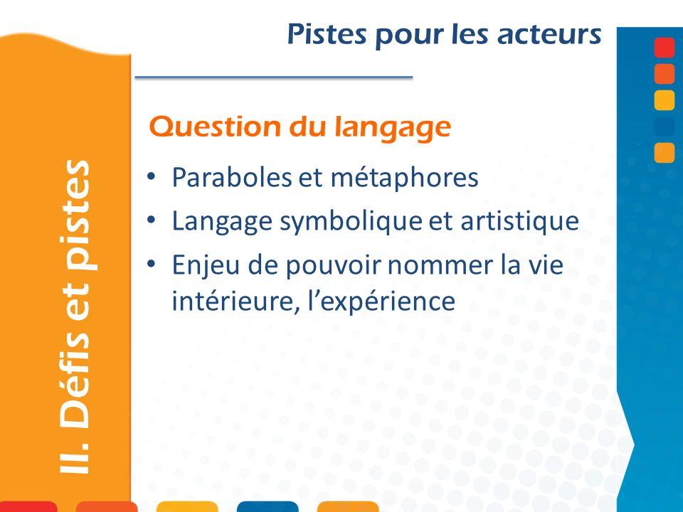 Question du langage II.