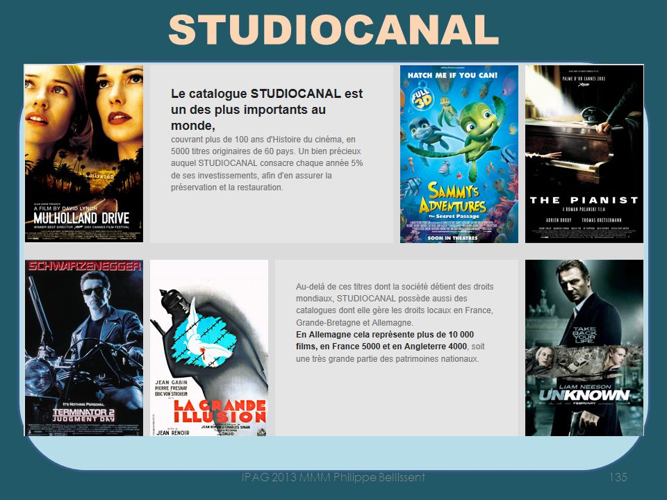 STUDIOCANAL texte 135IPAG 2013 MMM Philippe Bellissent
