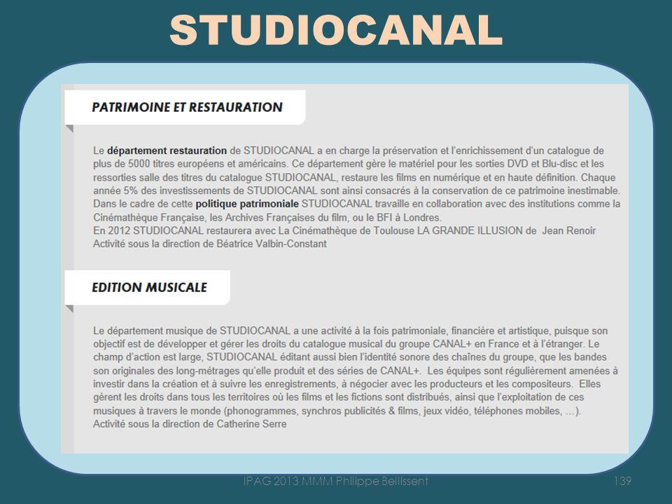 STUDIOCANAL 139IPAG 2013 MMM Philippe Bellissent