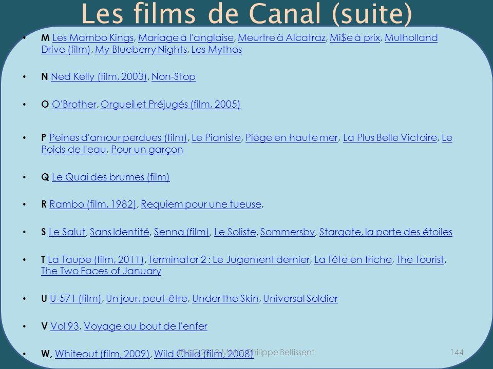 Les films de Canal (suite) M Les Mambo Kings, Mariage à l'anglaise, Meurtre à Alcatraz, Mi$e à prix, Mulholland Drive (film), My Blueberry Nights, Les