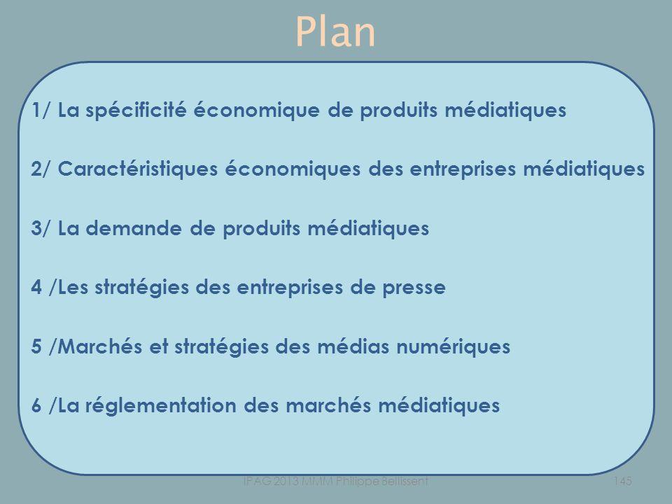 Plan 1/ La spécificité économique de produits médiatiques 2/ Caractéristiques économiques des entreprises médiatiques 3/ La demande de produits médiat