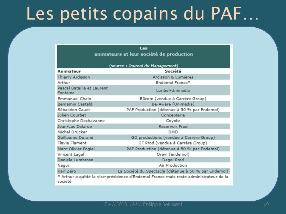 Les petits copains du PAF… 60IPAG 2013 MMM Philippe Bellissent