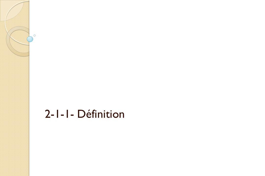 2-1-1- Définition