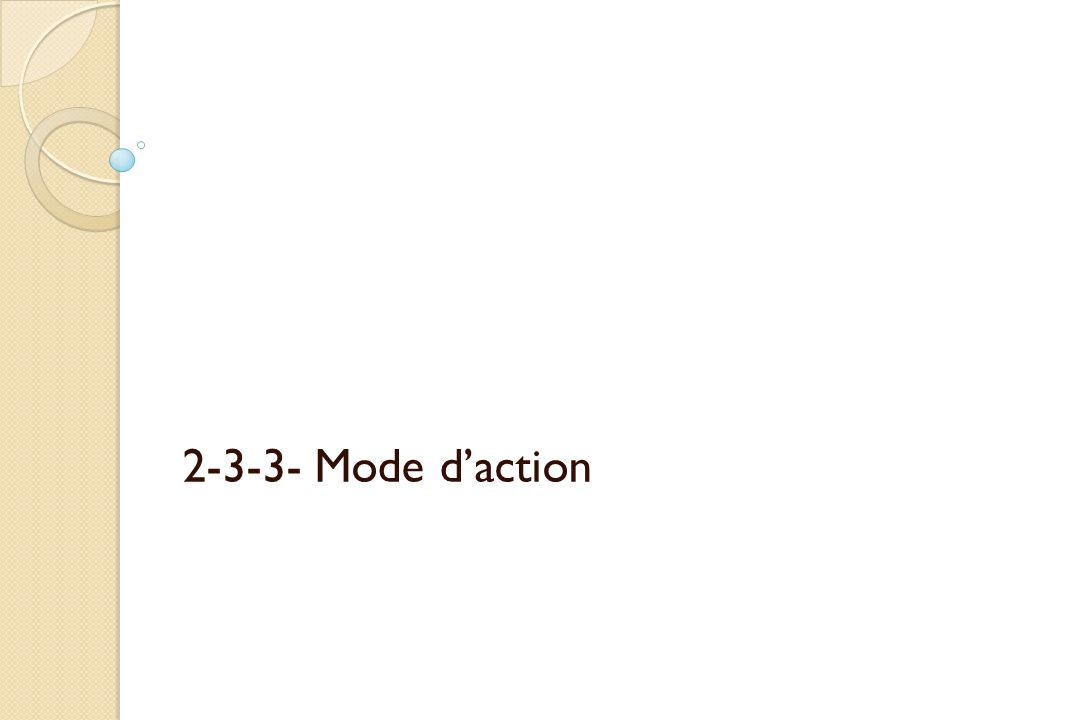 2-3-3- Mode daction