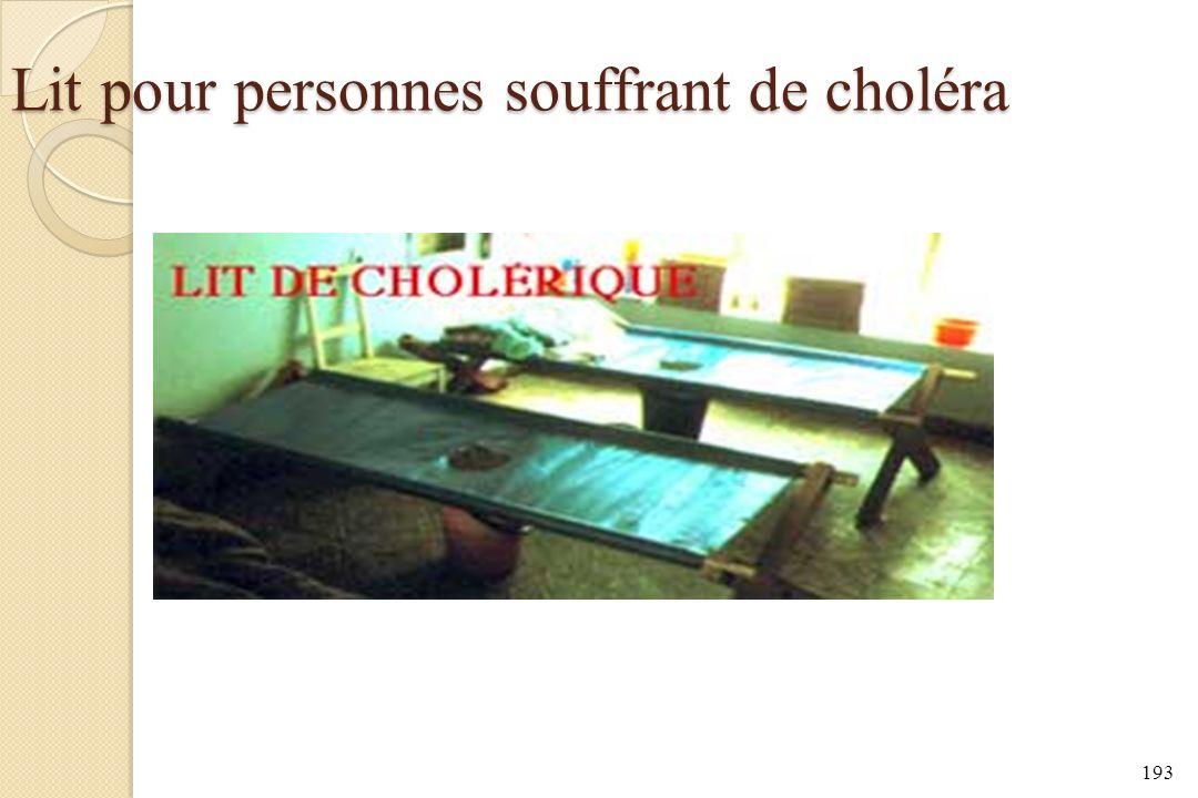 Lit pour personnes souffrant de choléra 193