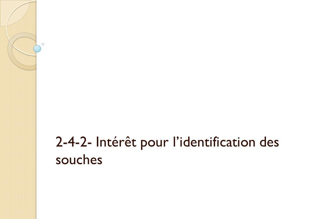 2-4-2- Intérêt pour lidentification des souches