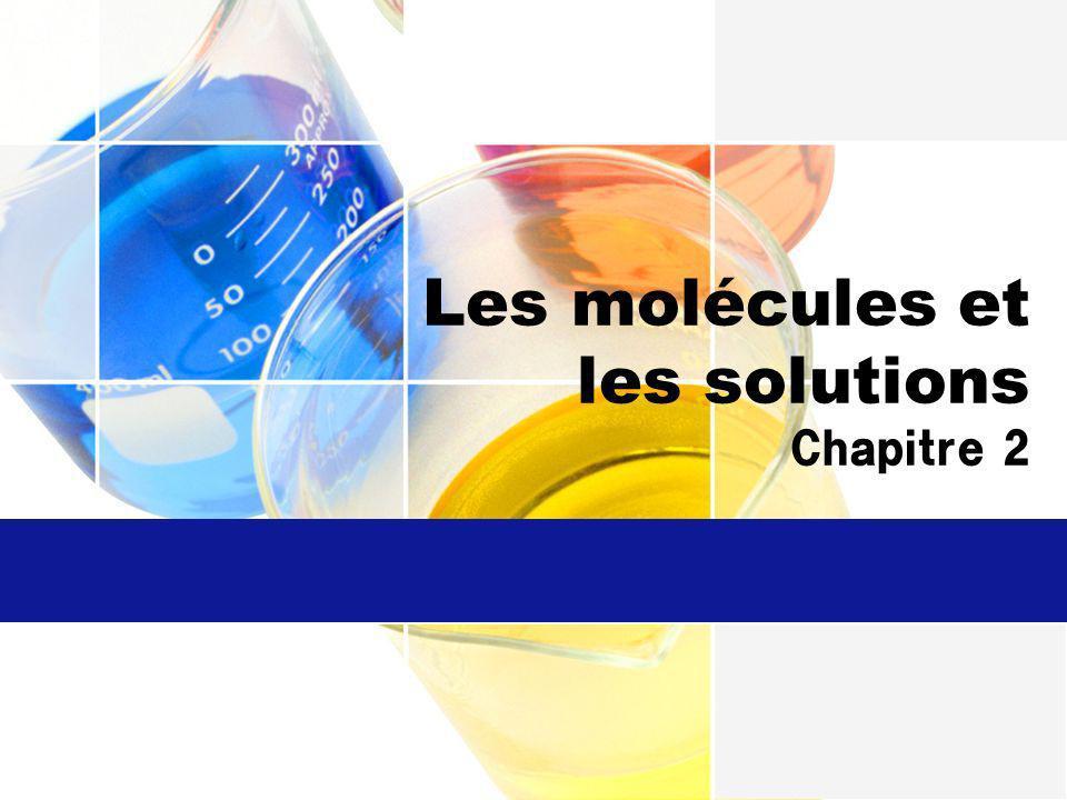 Les molécules et les solutions Chapitre 2
