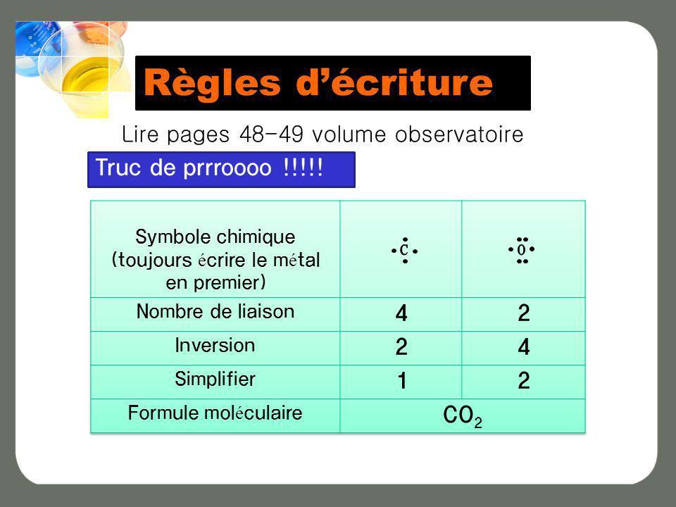 Règles décriture Lire pages 48-49 volume observatoire Truc de prrroooo !!!!!