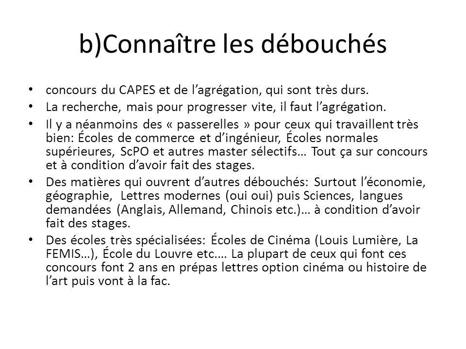 b) La spécialisation Ensuite il faut sorienter vers lune des deux khâgnes quon propose: Celle qui prépare le concours de la Rue DUlm, ou celle qui prépare le concours de lENS de Lyon.