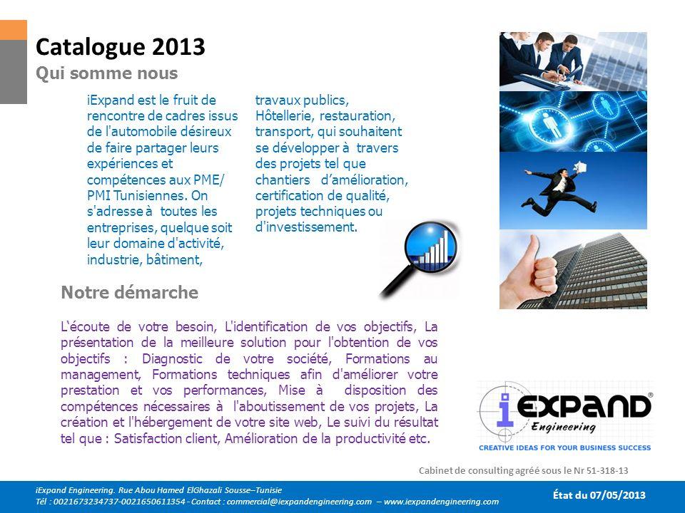 iExpand est le fruit de rencontre de cadres issus de l'automobile désireux de faire partager leurs expériences et compétences aux PME/ PMI Tunisiennes