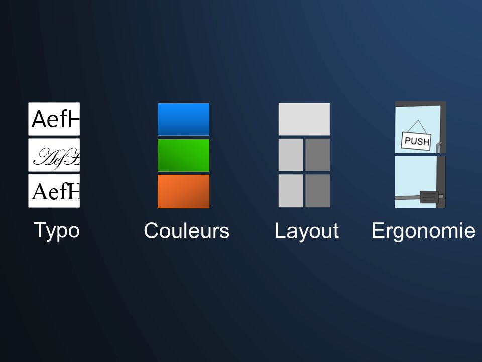 Layout Couleurs Typo Ergonomie