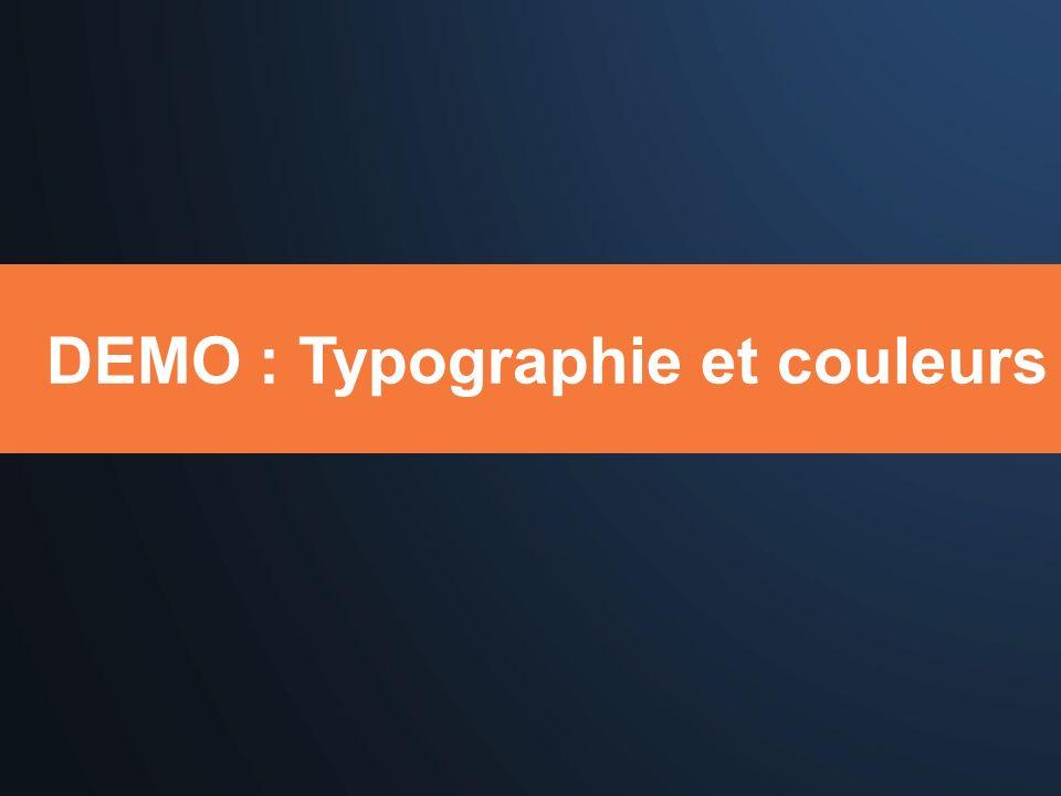 DEMO : Typographie et couleurs
