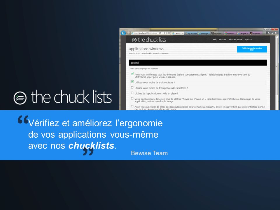 DEMO : ChuckLists