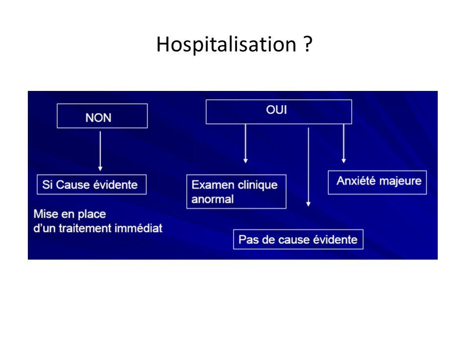 Hospitalisation ?