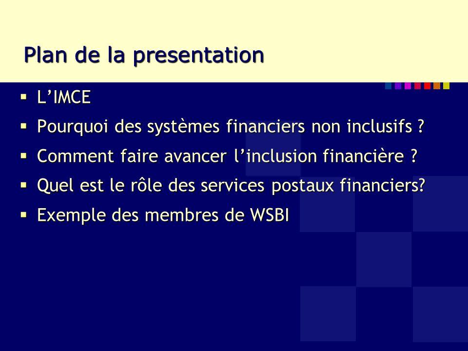 Linstitut mondial des caisses dépargne (IMCE) Association internationale des banques depargne et de detail Association internationale des banques depargne et de detail 111 membres dans 90 countries Afrique (37 in 31), Asie (22 in 16), Amerique (16 in 13), Europe (36 in 30) 111 membres dans 90 countries Afrique (37 in 31), Asie (22 in 16), Amerique (16 in 13), Europe (36 in 30) 3R : Ventes au detail (Retail en anglais), Regional et Responsable 3R : Ventes au detail (Retail en anglais), Regional et Responsable Plaidoyer, Expertise conseil et Formation, Service de Coopération entre les entreprises Plaidoyer, Expertise conseil et Formation, Service de Coopération entre les entreprises Organisation sœur: Groupe européen des caisses dépargne (GECE) (25 membres dans 25 pays) Organisation sœur: Groupe européen des caisses dépargne (GECE) (25 membres dans 25 pays)