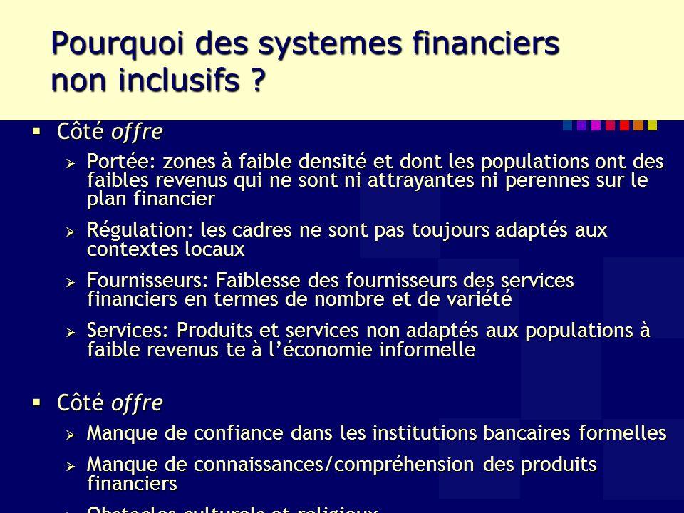 Pourquoi des systemes financiers non inclusifs .