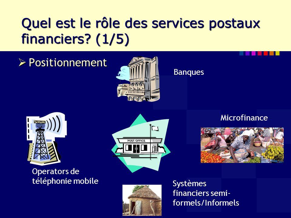 Quel est le rôle des services postaux financiers.