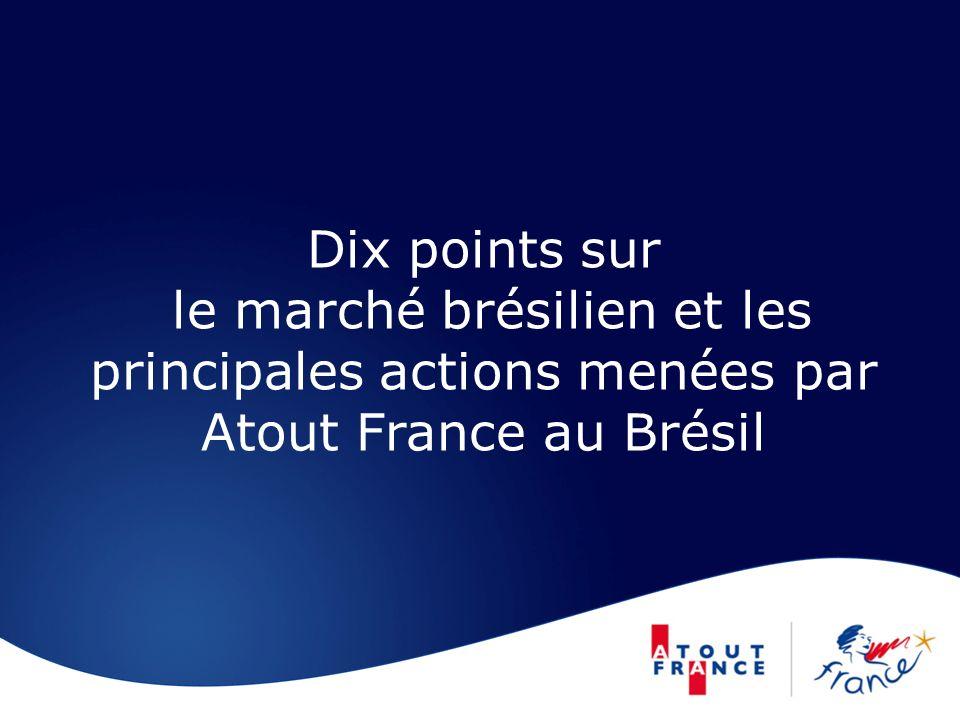 Dix points sur le marché brésilien et les principales actions menées par Atout France au Brésil