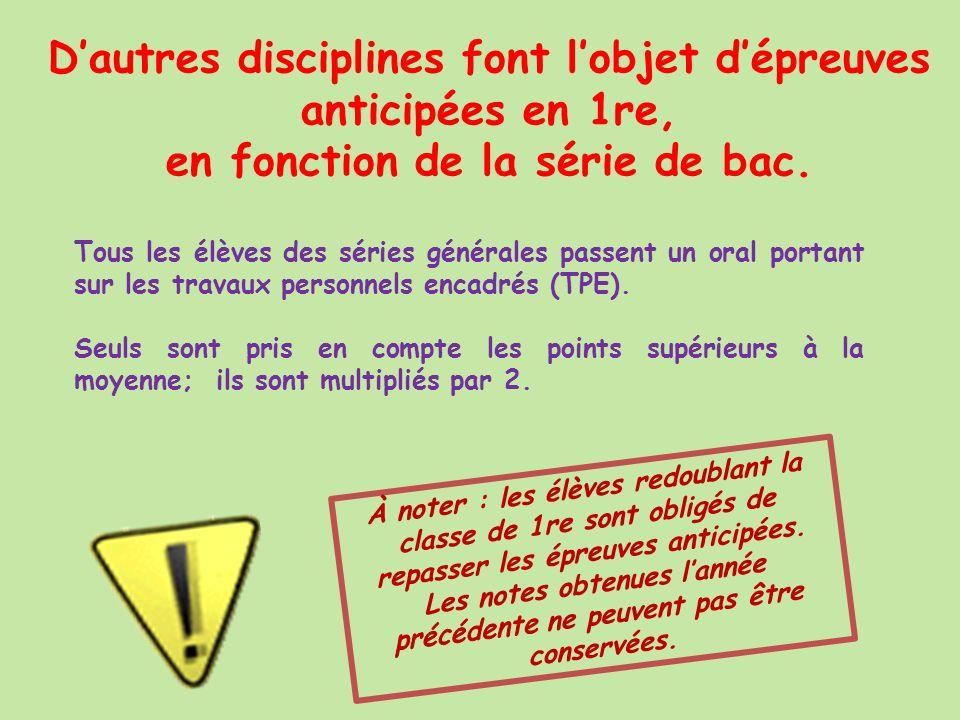 Une épreuve anticipée de français pour tous… Pour tous les lycéens, le bac commence en fin de 1re avec les épreuves écrites et orales de français...